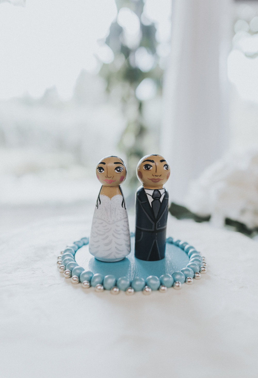 How cute is this cake topper by  Pocket Folk  ?! :)