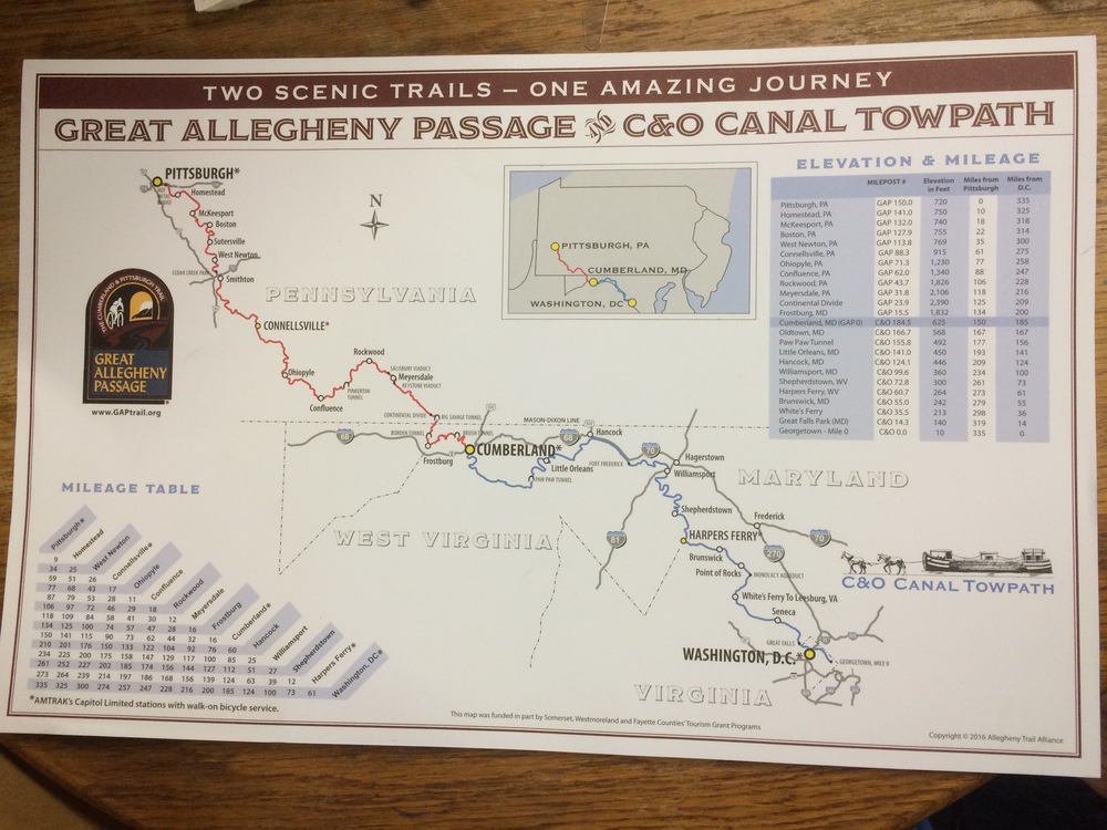 Stop in for free maps and posters of the Great Allegheny Passage.