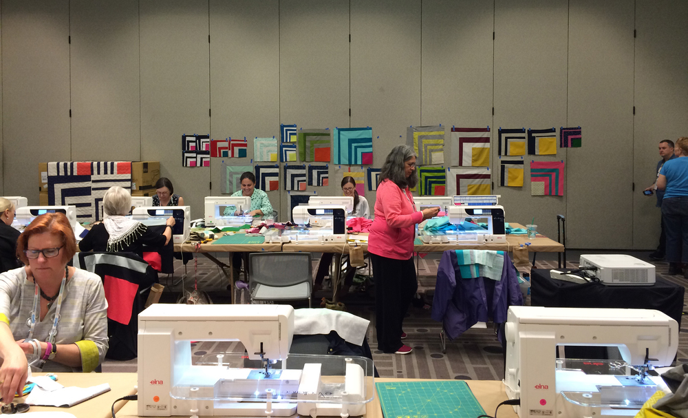 My Improv Half Log Cabin workshop at QuiltCon West, February 2016