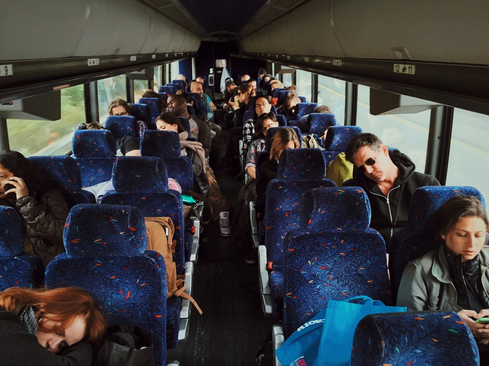 The Busride back to NYC. With 1h of sleep or even none it was time to take some rest. If teacher or student didnt matter.