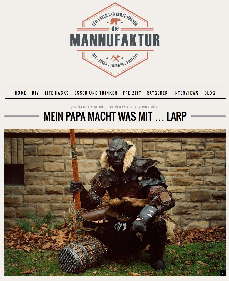 http://mannufaktur.de/mein-papa-macht-was-mit-larp/