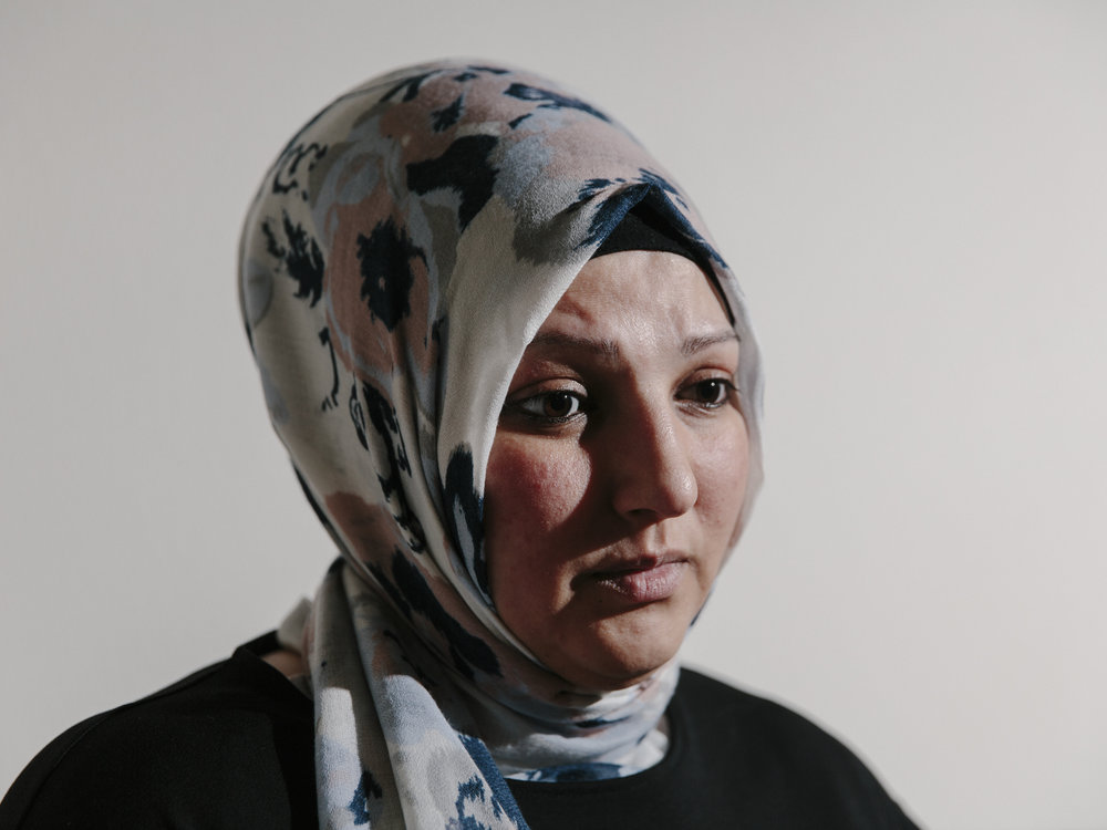 Neriman Yaman, photographed in her home in Gelsenkirchen, Germany, on the 25th of January 2017. Yaman is the mother of the 16 year old salafist who set off a home-made bomb in April 2016 outside a Sikh prayer hall in Essen injuring the Sikh priest. (Felix von der Osten)