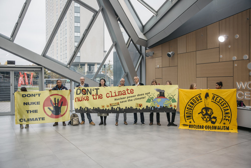 Granted protest inside the Bula 1 Zone at the COP23