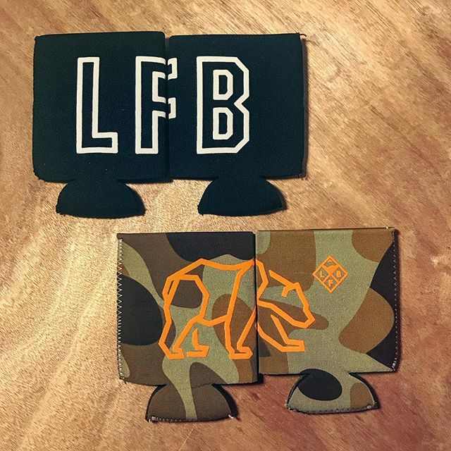 Our new LFB koozies keep your paws warm and your beers cold. Stop by and nab one if you're in the neighborhood. #wearelfb