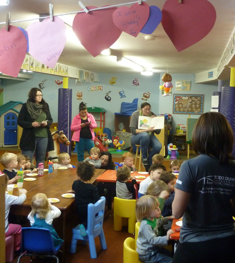 Story time with our playgroup direction, Jen Kruger.