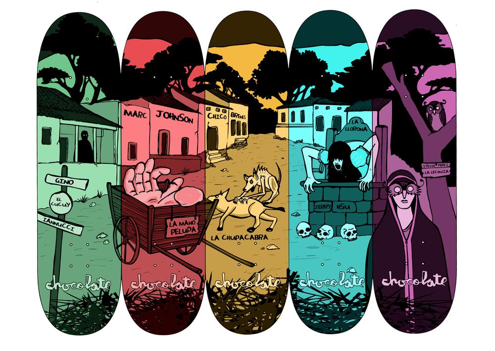 """""""Bestia en la Noche"""" Skateboard Series"""