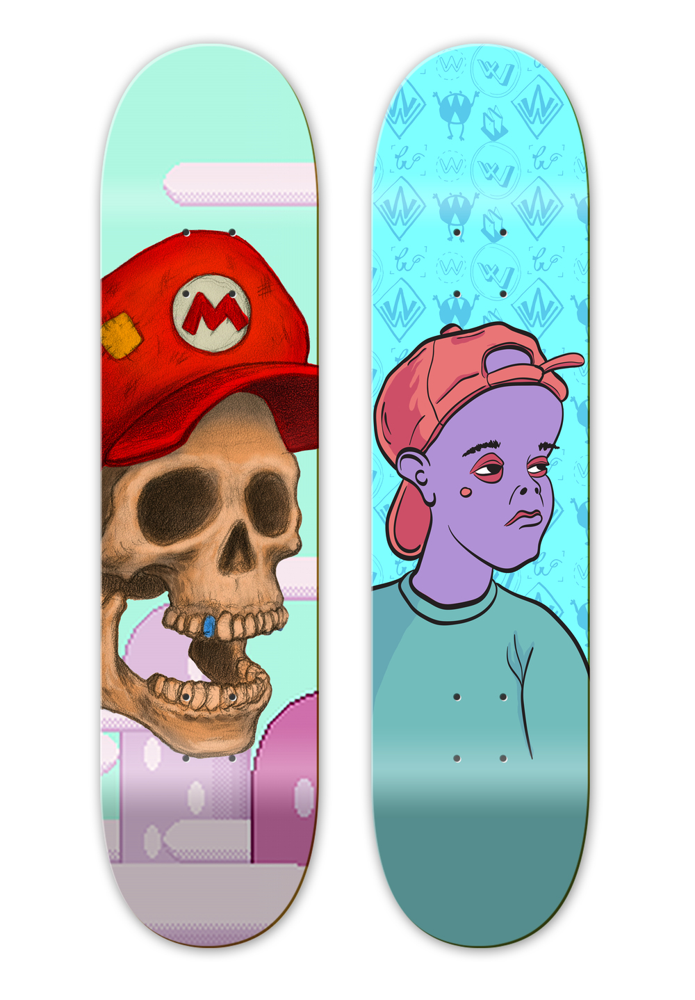 Mario board & Mad Kid.jpg