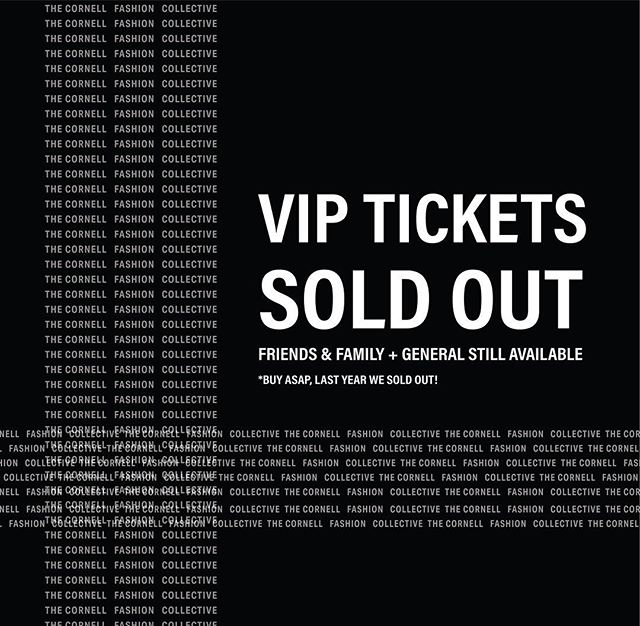 VIP TICKETS ARE SOLD OUT ❌ General admission tickets are still available! Head to our link in bio to buy yours now before they sell out like they did last year! 🖤 #cufashion