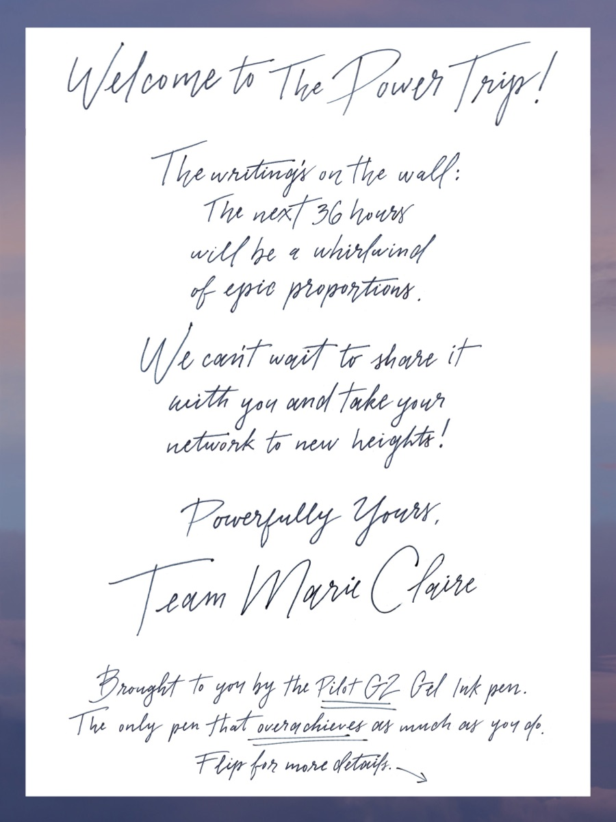 Marie Claire's 2017 Power Trip: Event welcome note