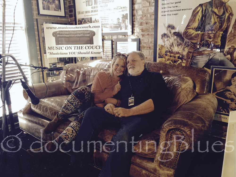 """Jenn & Greg getting interviewed by Vinny Marini's show """"Music on the Couch"""""""