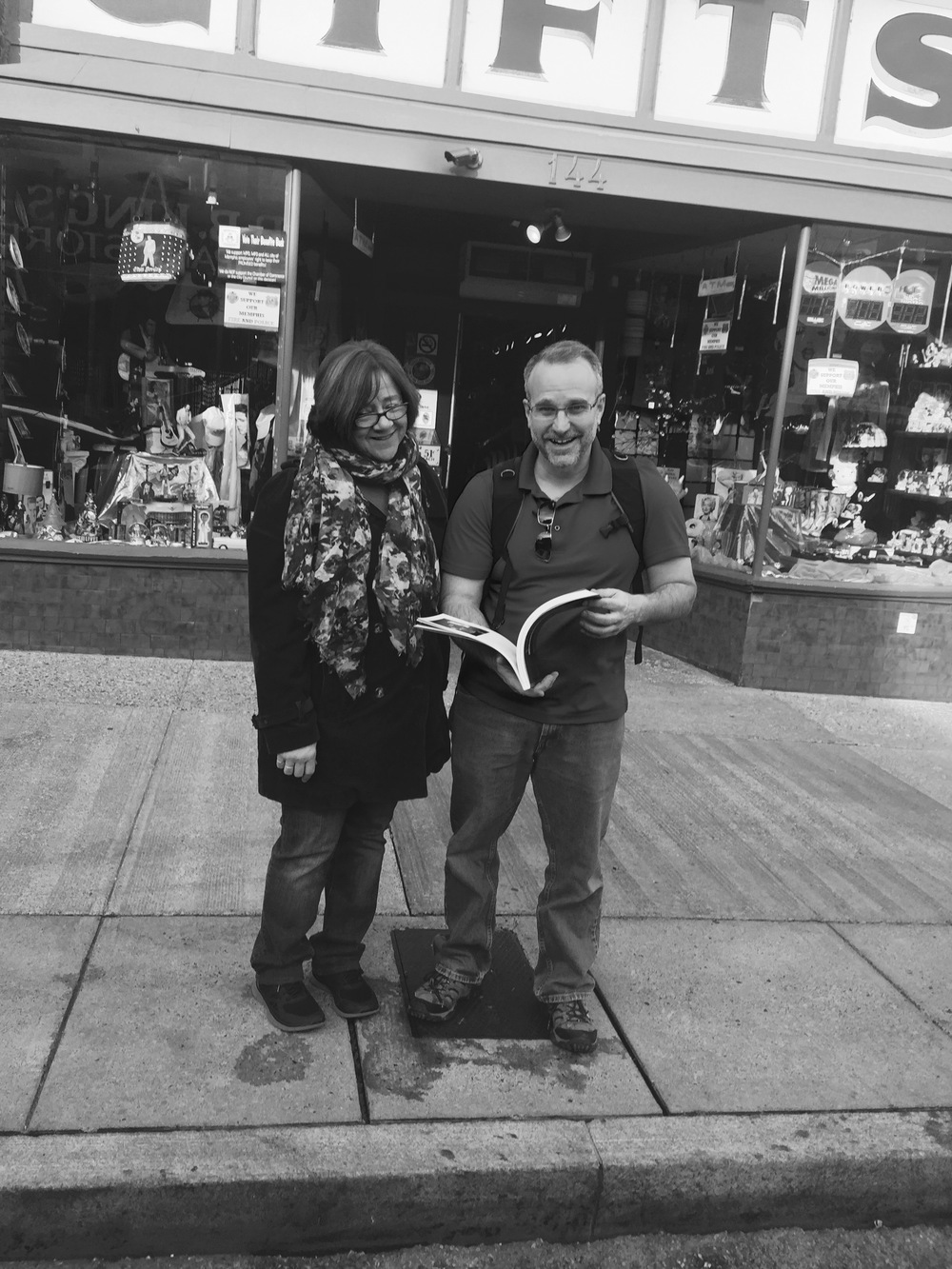 Pat Pepin and Kelly Thornton seeing the book for the first time
