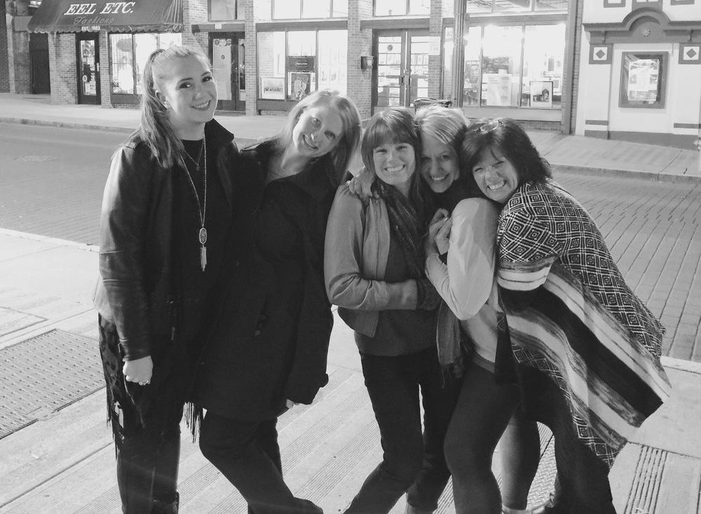 Jordan, Jess, Rebecca, me and Rebecca's mom celebrating Rebecca's birthday on Beale!
