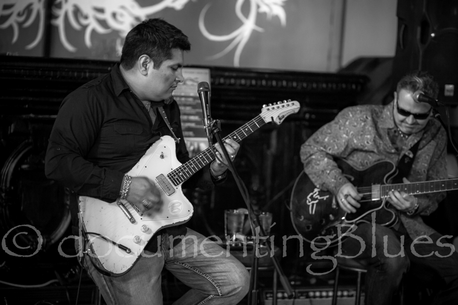 Jonn Del Toro Richardson and Sean Carney jamming at the VIP Release Party