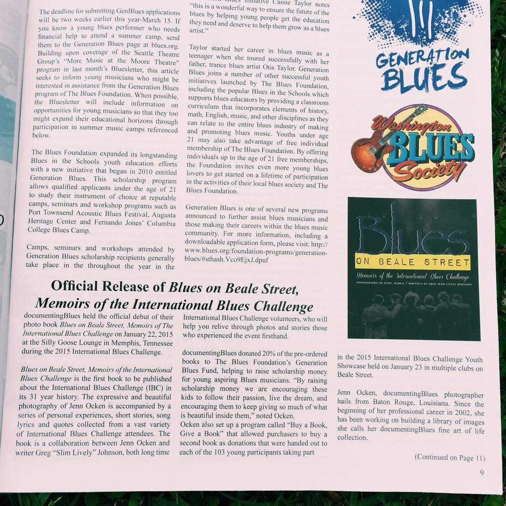 "Washington Blues Society ""Bluesletter"" March 2015 issue"