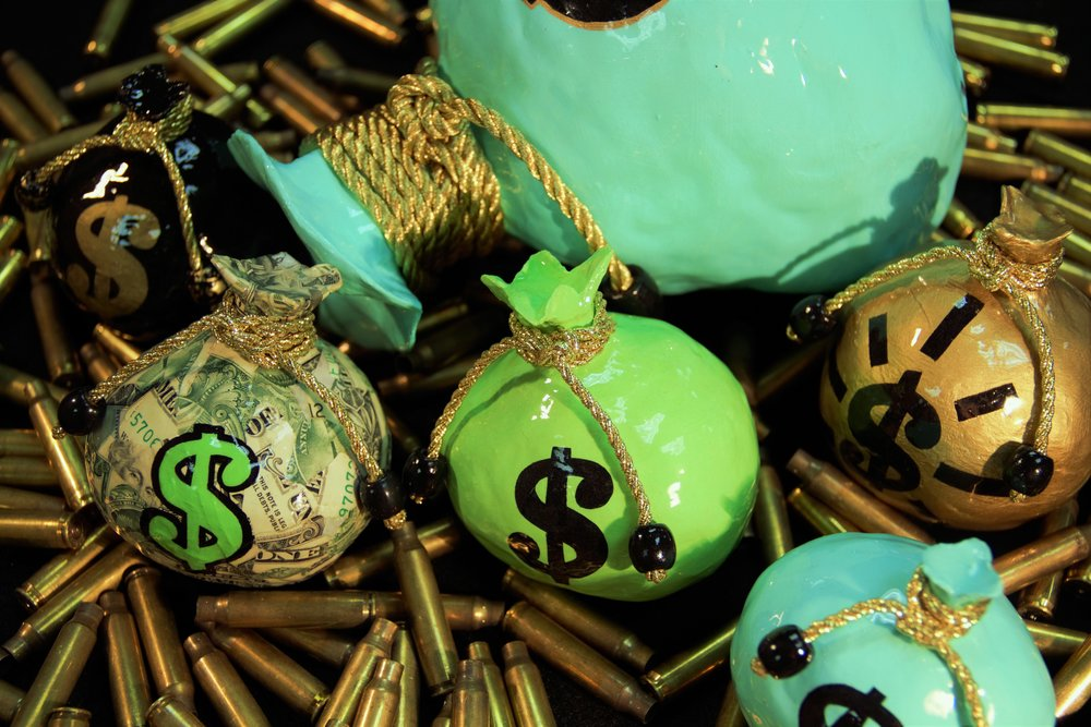 MONEY BAG SCULPTURES