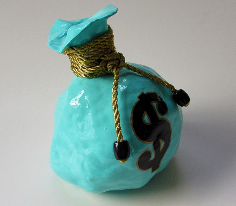 Money Bag Sculpture - Medium