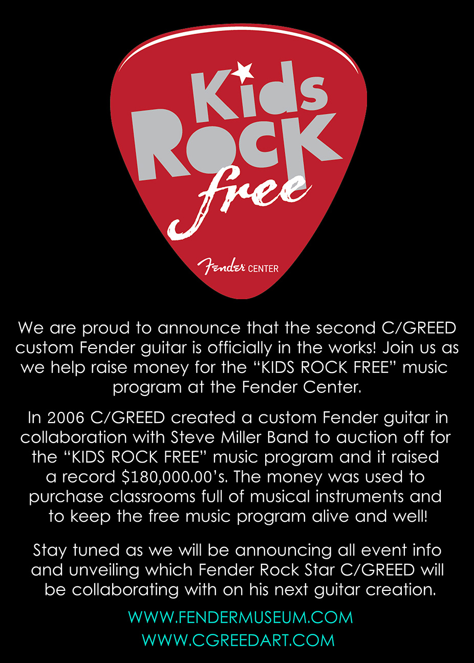 Fender Guitars - X - C/GREED Collaboration #2