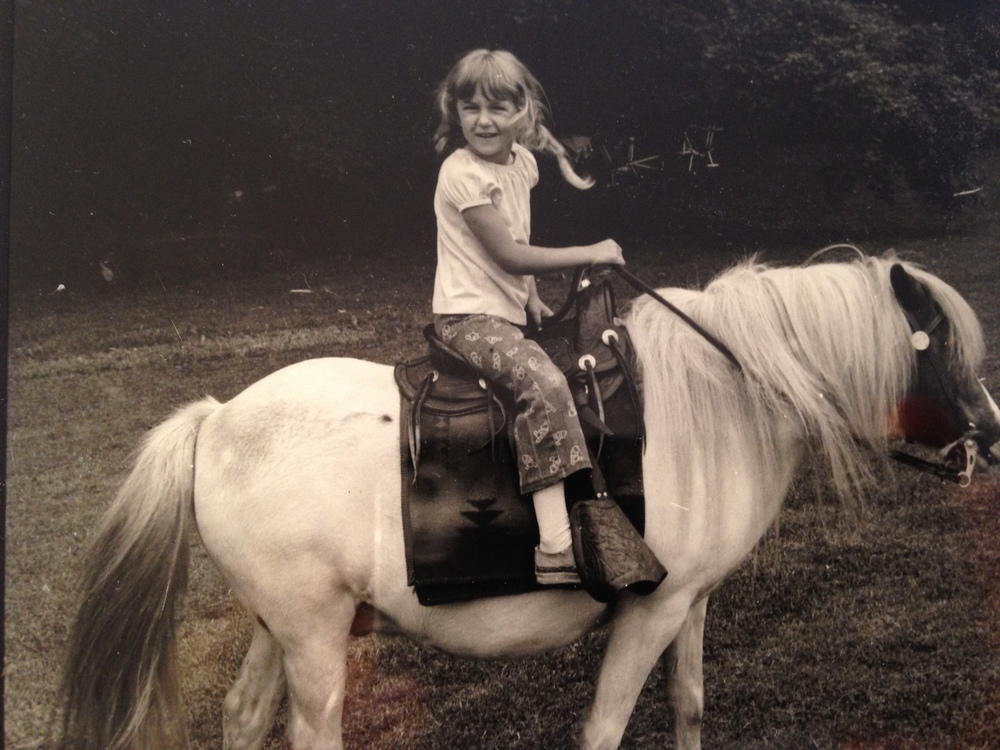 MOnica Age 4 with her first pony Paco