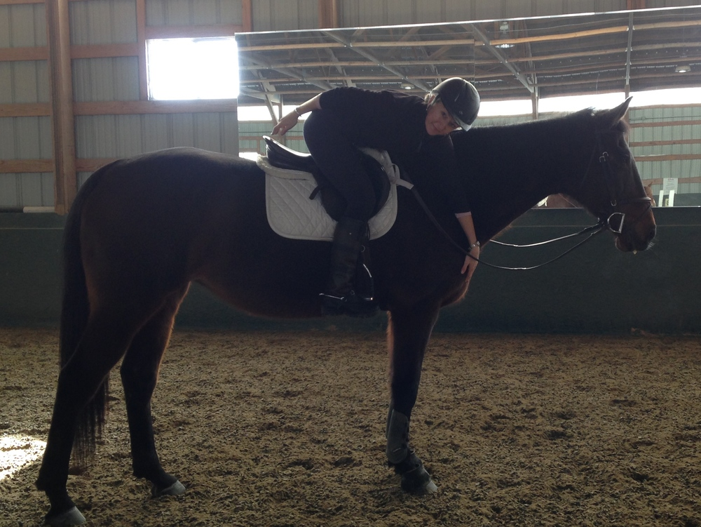 Warming up on Ali,owned by Lise gottwald
