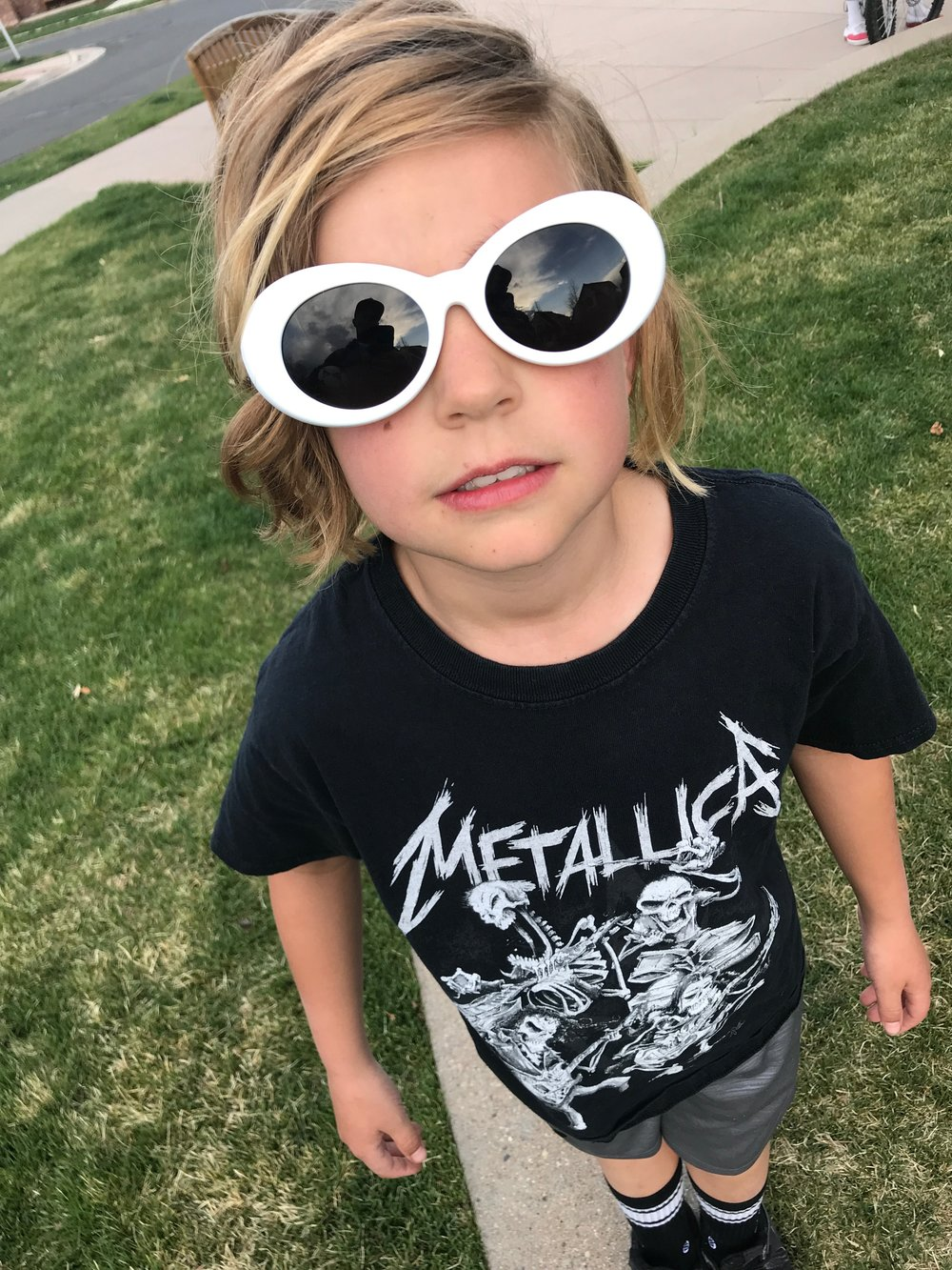 How do you feel about wearing sunglasses in the workplace? - This is a tough one so I had to call in my son for a lifeline. Finn what is your answer