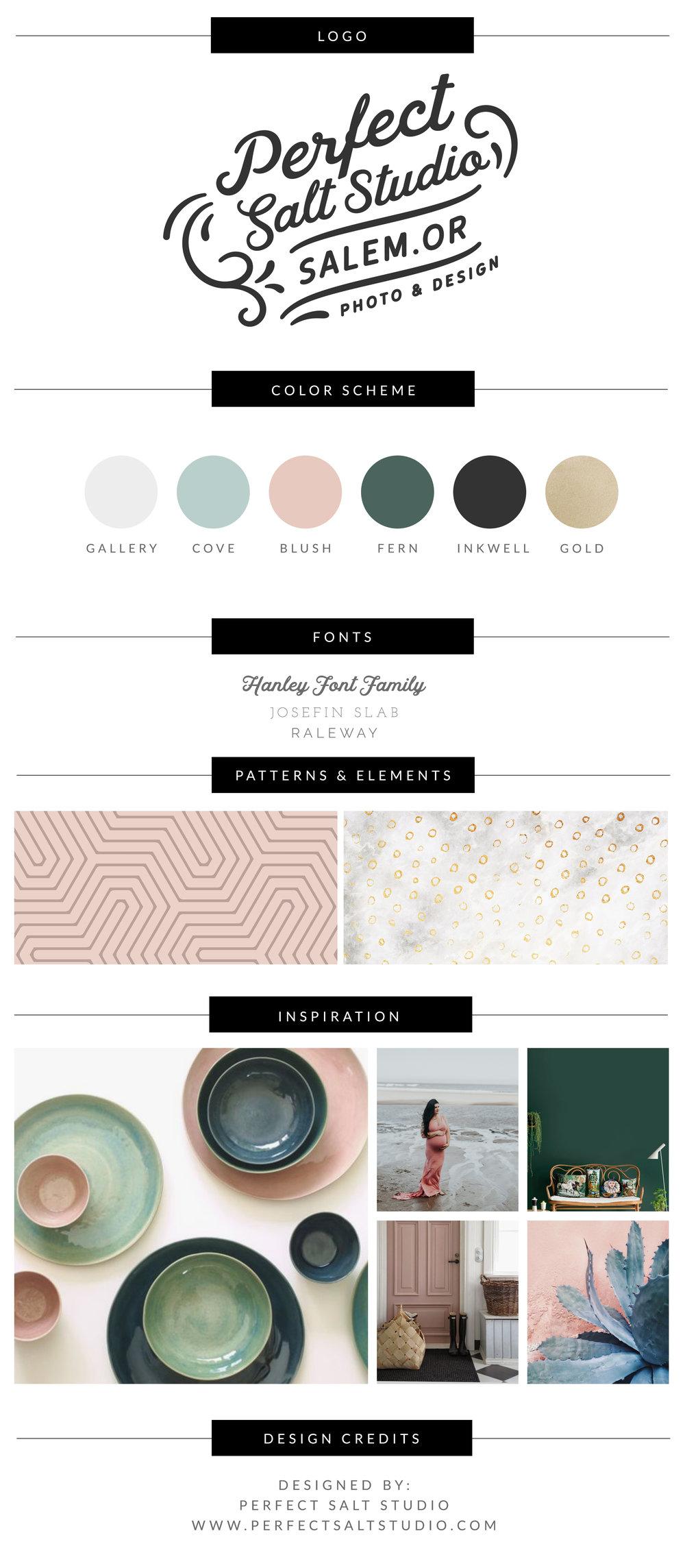 Perfect Salt Studio branding and design salem oregon
