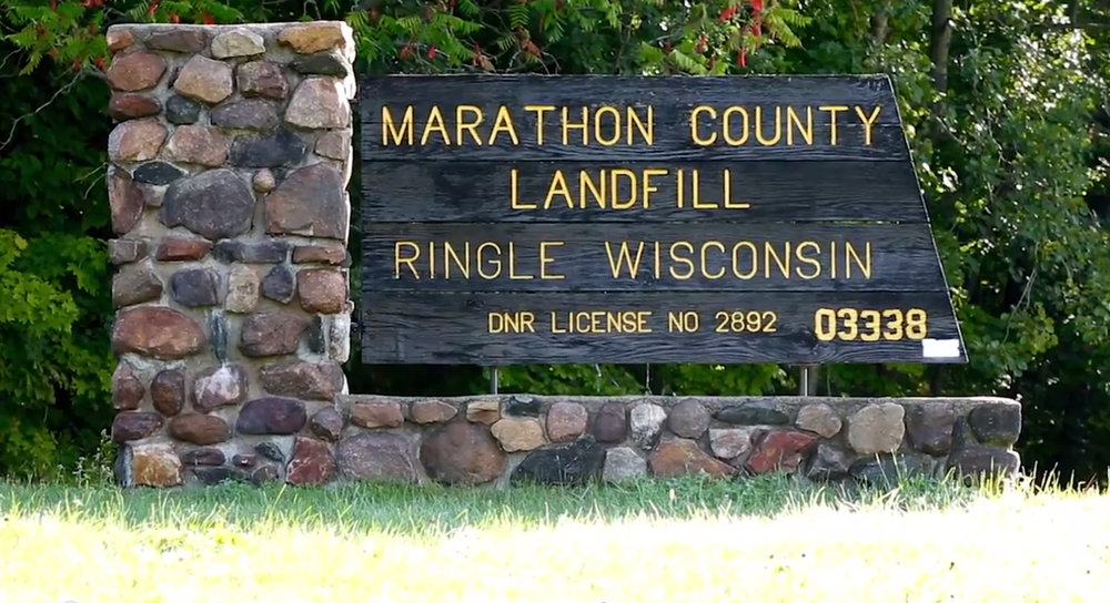 Marathon County Landfill Ringle, WI Welcome sign