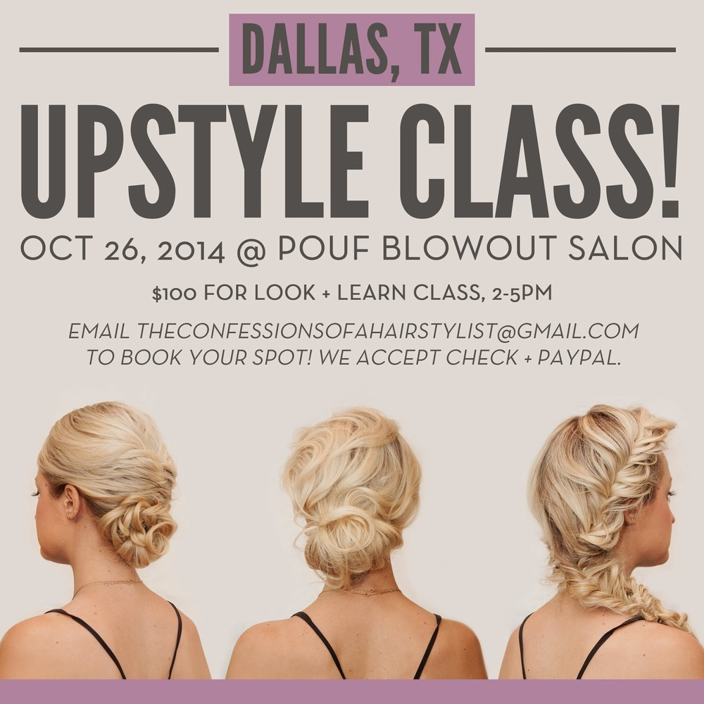 Updo Class Updates — Confessions of a Hairstylist