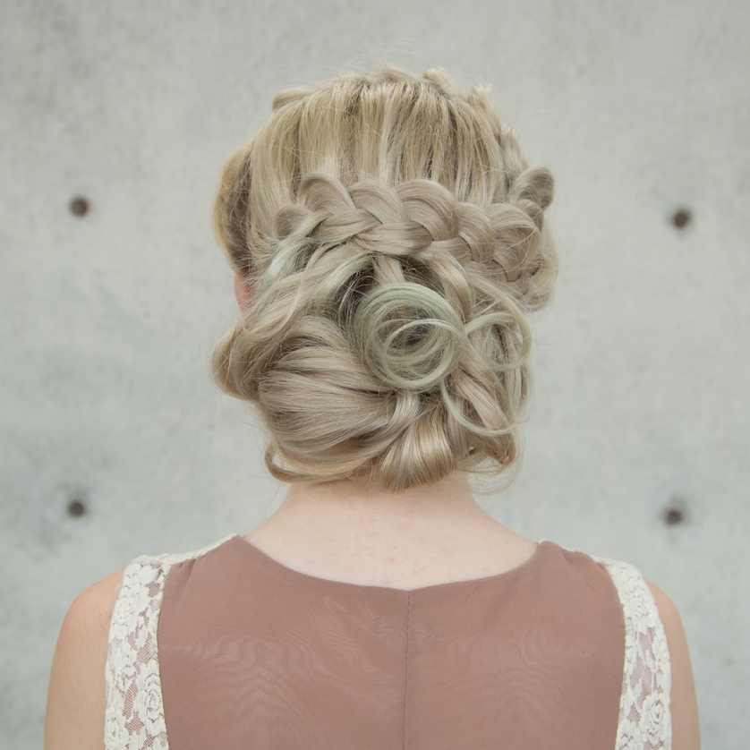 Wedding Hairstyle Upstyle: Braided Upstyle Hair Tutorial