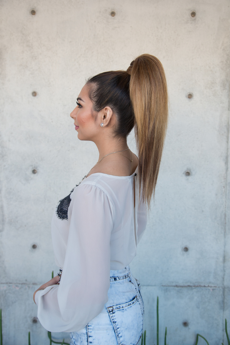 pretty party pony tail