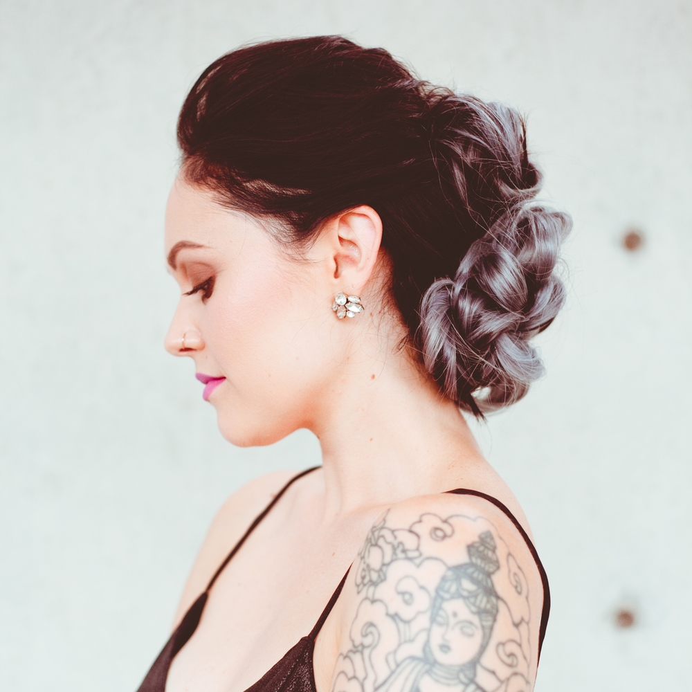 Braided Bun Hawk Using Glam Seamless Extensions Confessions Of A