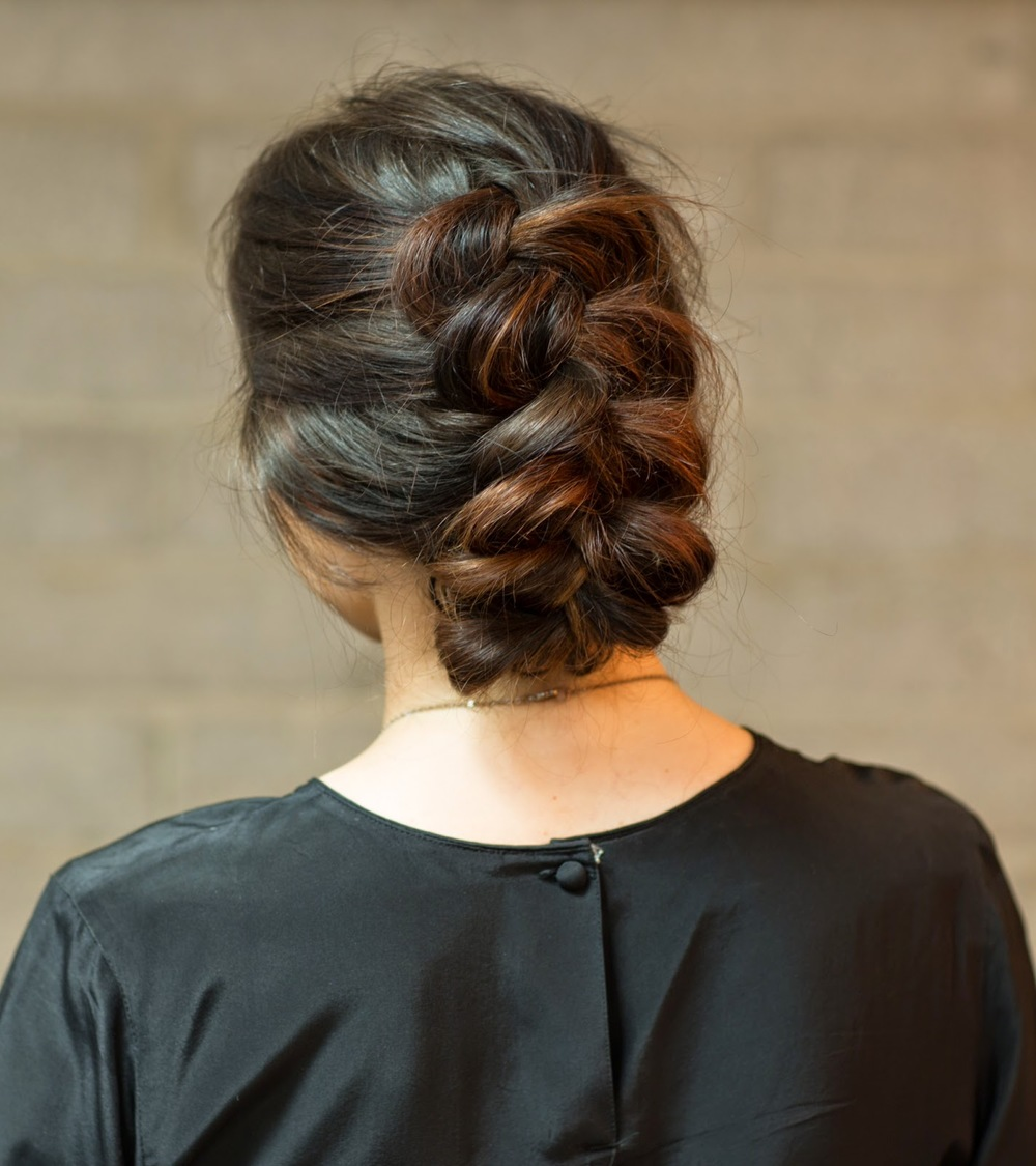 DUTCH BRAID UPDO TUTORIAL