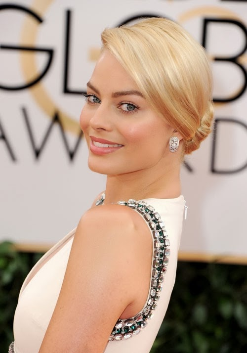 MARGOT ROBBIE HAIR AT THE GLOBES
