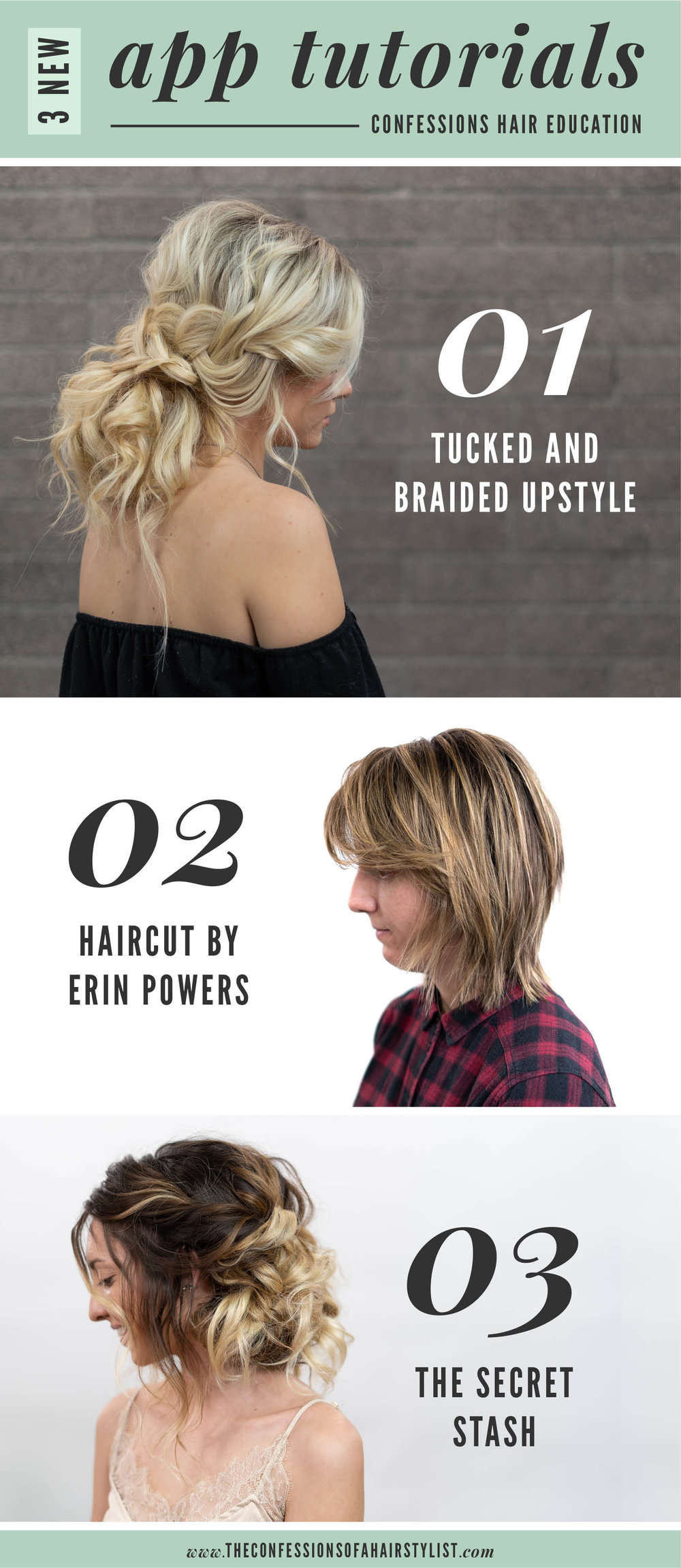 Tucked and Braided Upstyle, Haircut by Erin Powers, The Secret Stash