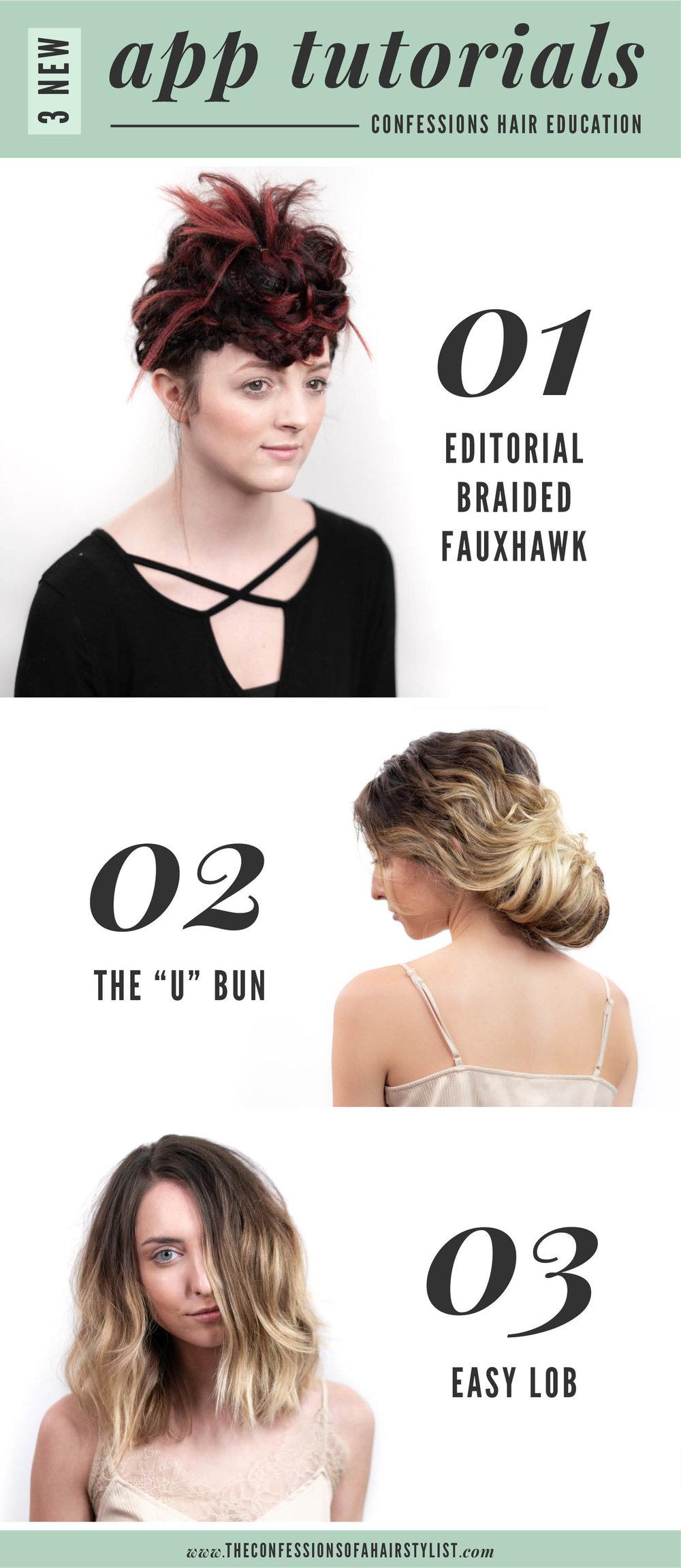 Editorial Braided Fauxhawk by Nuvia, The U Bun and an Easy Lob