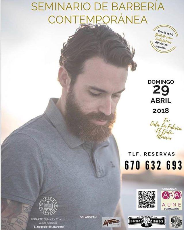 Pues el gran día se acerca y en apenas 10 días estaré en la ciudad de El Ejido, Almería para impartir un seminario sobre barbería contemporánea. 8h con mucho que compartir a través de una exposición profesional que te ayudarán a fusionar tradición con modernidad. No te quedes sin tu plaza, estamos casi completos!!!! ———————————————————— 👉🏻 Para más información sobre cursos y seminarios, así como contrataciones y eventos, se ruega contactar a: 📬 sc@1o1barbers.com ———————————————————— #Lordjackknife #1o1barbers #norge #oslo #mensfashion #menshair #behindthechair #model #sharpfafe #skinfade #haircut #beard #barbershop #spanishbarber #spain #model #menswithstyle #barbersinctv #mensgrooming #hairsalon #styling #1