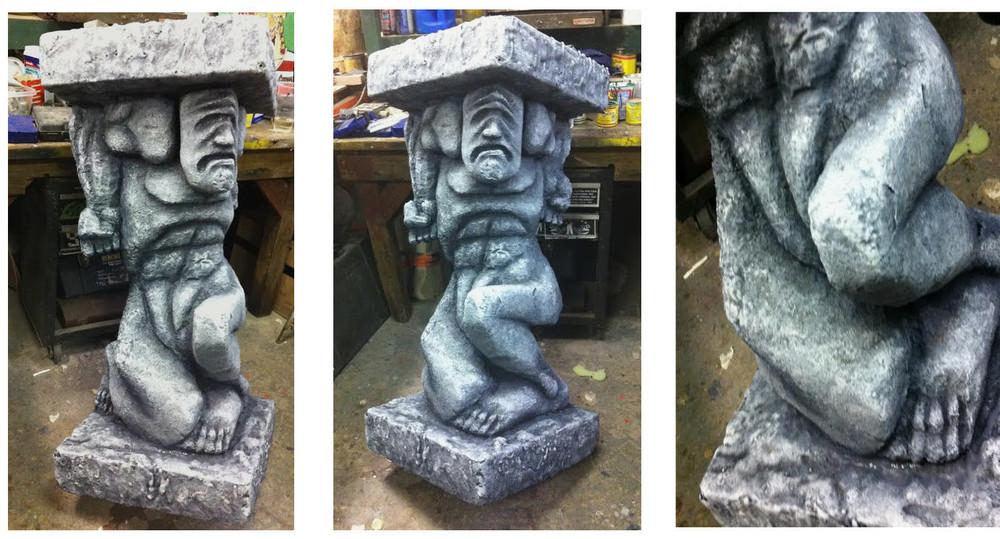 Faux Stone Column Figure