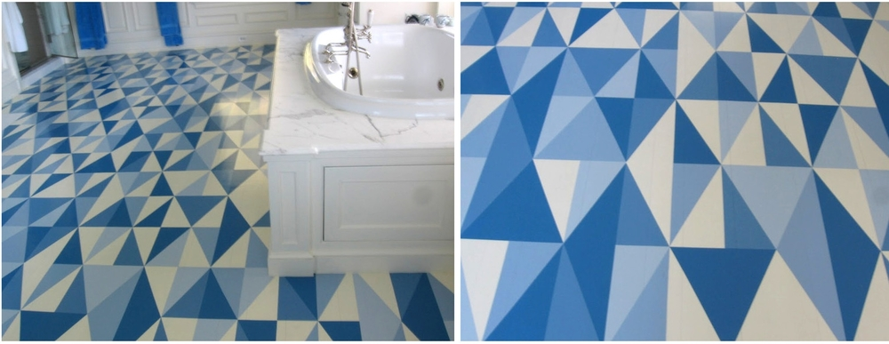 Geometric Bathroom Floor