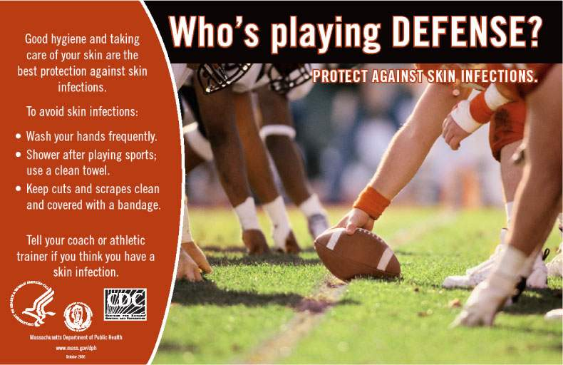 A MRSA awareness campaign for athletes from the Massachusetts health department