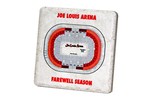 Joe Louis Arena Birds Eye Red Coaster - SP27CSTR — ICONIC DETROIT
