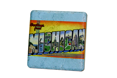 Greetings from michigan coaster gf30cstr iconic detroit greetings from michigan coaster gf30cstr m4hsunfo