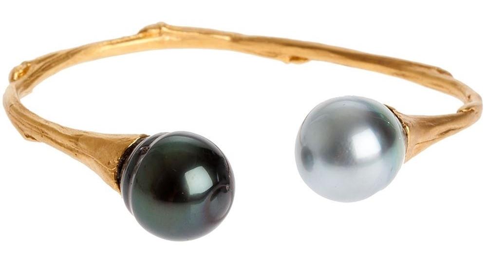Bratara din argint placat cu aur si perle, Samira 13, leclaireur.com, 1.464 euro