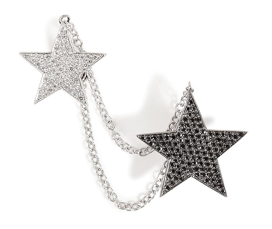 Ear cuff din aur cu diamante, Nikos Koulis, stylebop.com, 2.949 euro