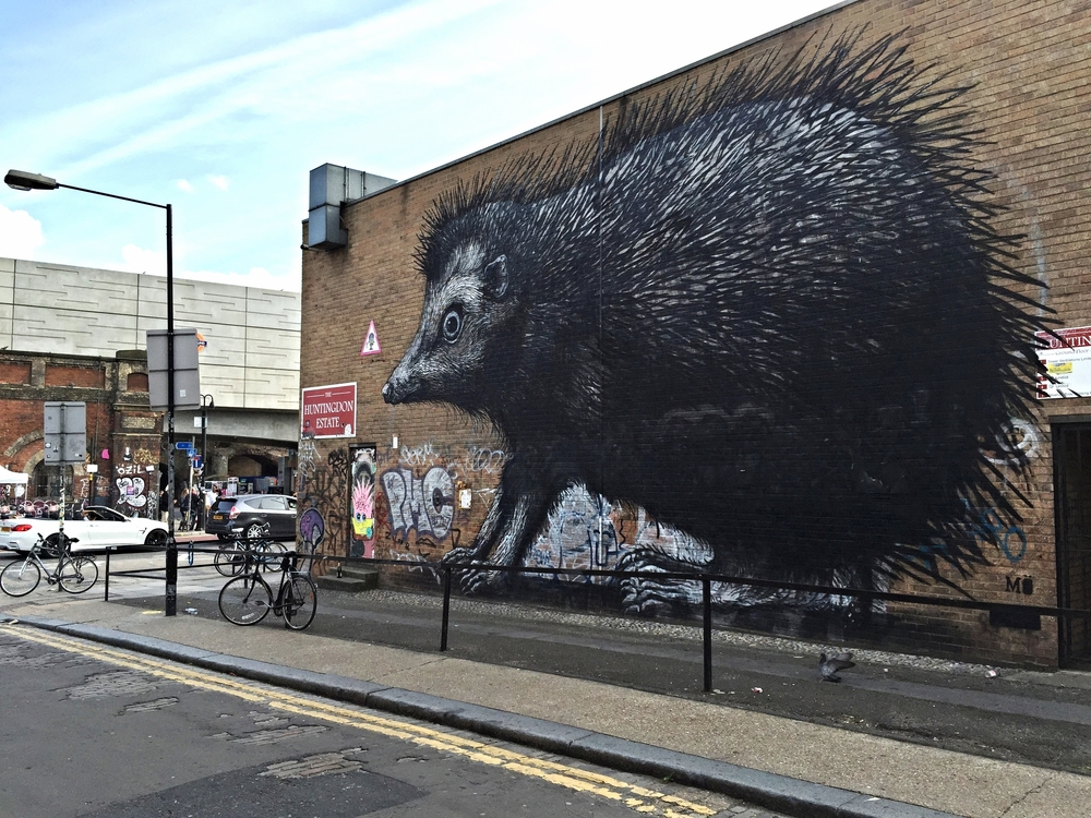 Street art by ROA in Shoreditch