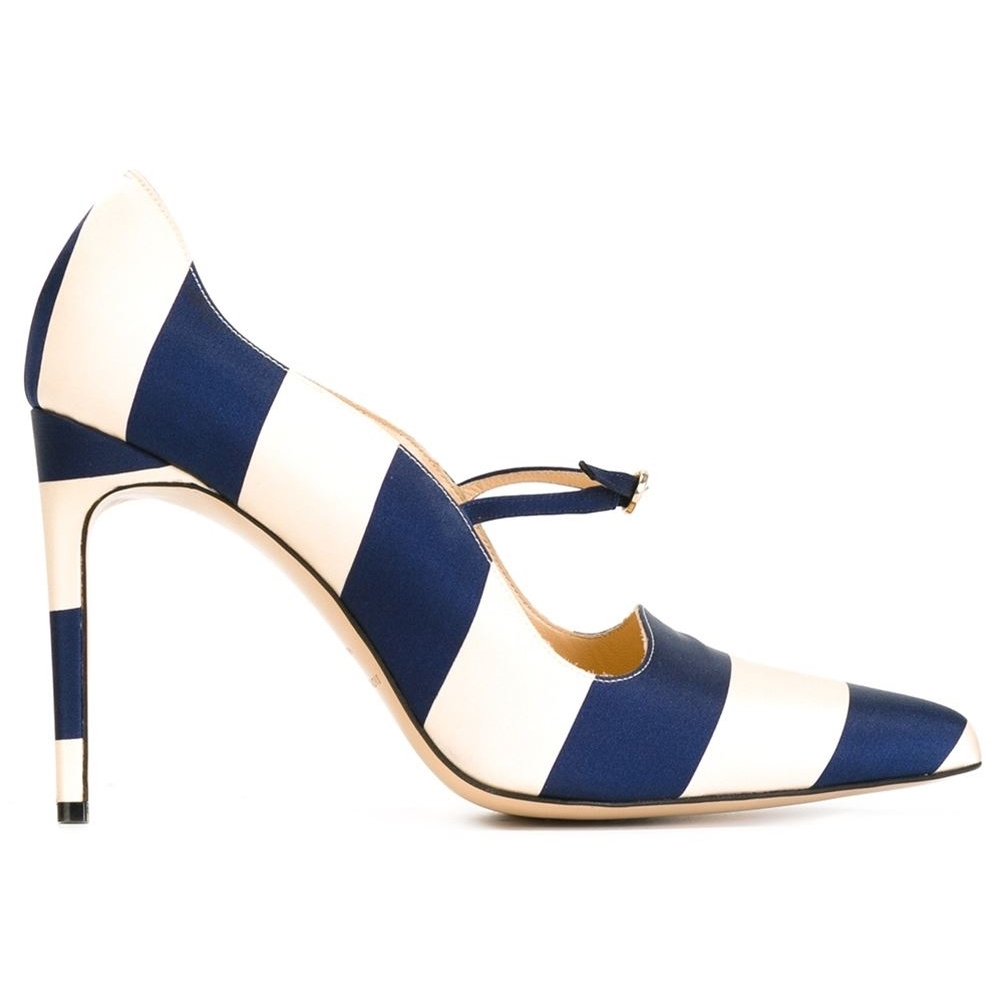 Pantofi din piele si matase satinata, farfetch.com,Bionda Castana, 257,50 euro