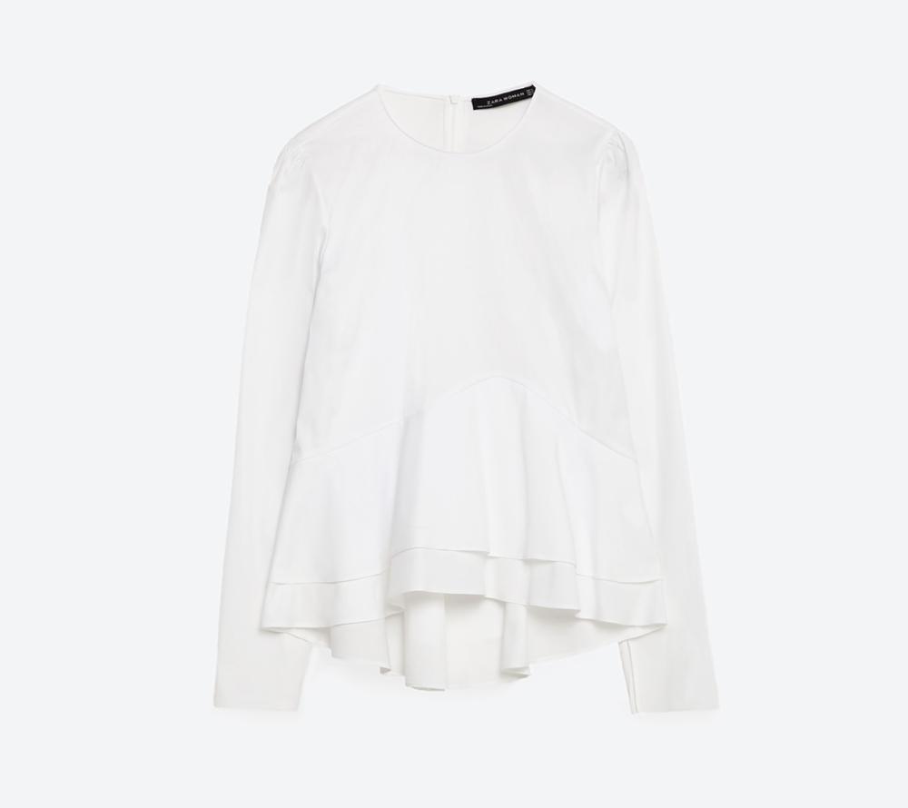 Bluza cu volane, Zara, 149,90 lei