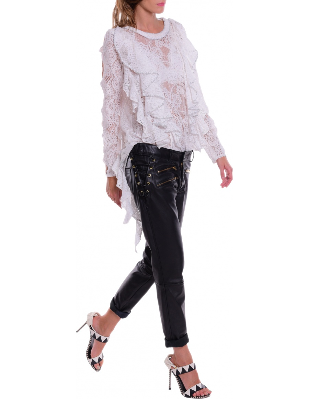 Pantaloni din piele, Corina Vladescu, molecule-f.com, 1.500 lei