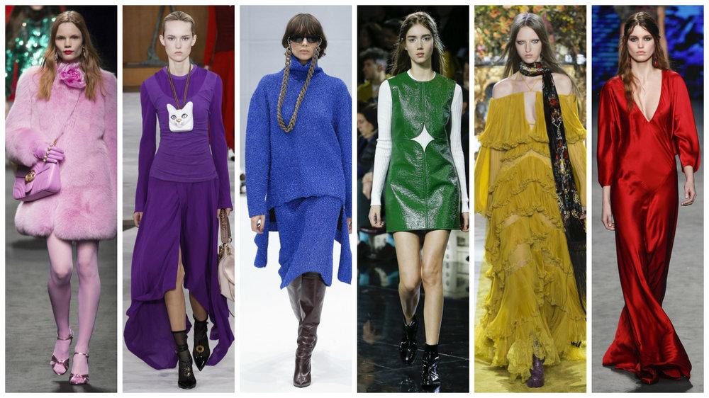 Gucci, Loewe, Balenciaga,Carven, Roberto Cavalli, Alberta Ferretti.