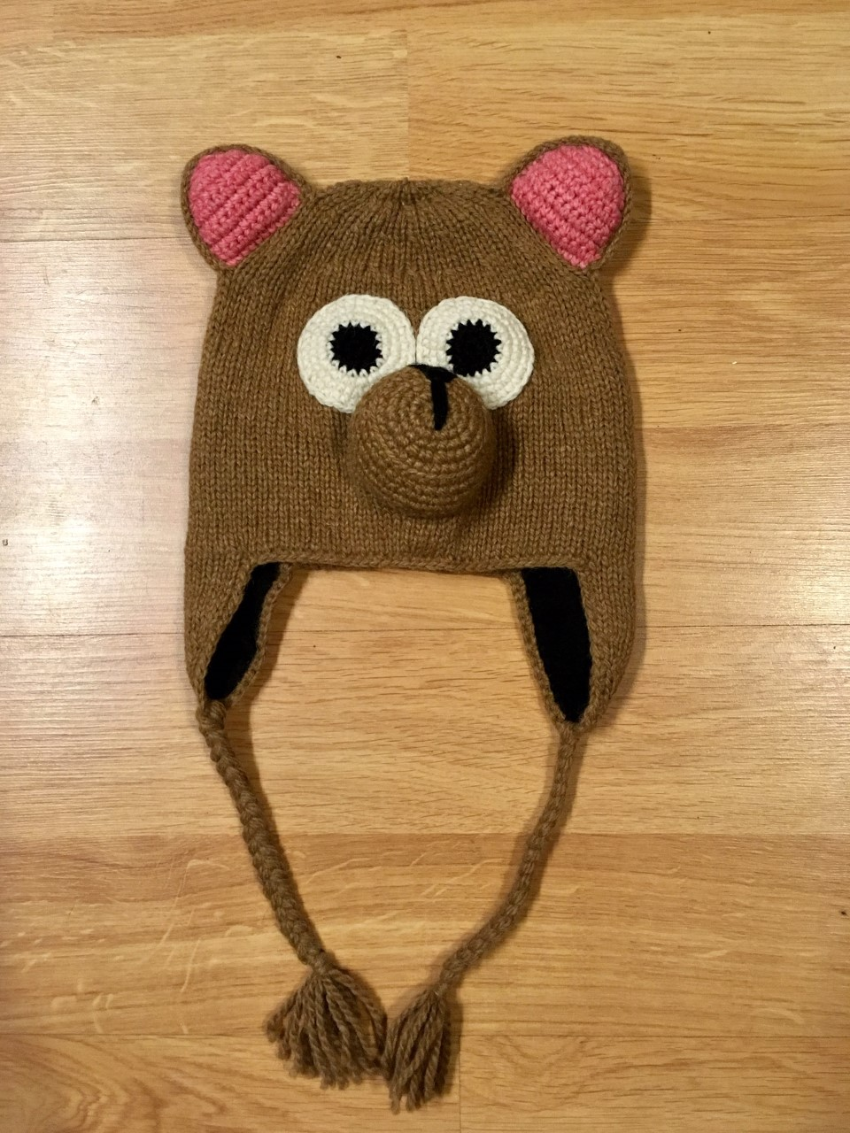 Hand Knitted Premium Alpaca Kid's Hat- Bear - Shop on Ebay