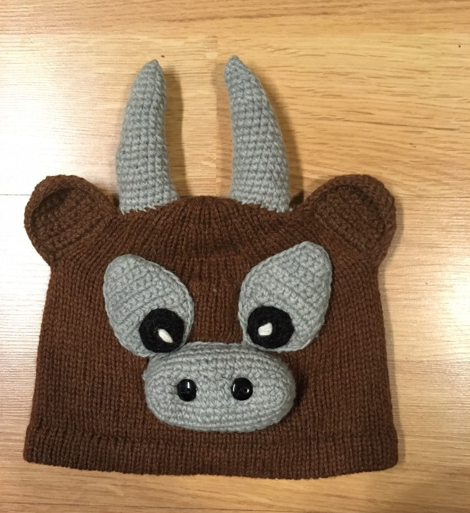 Hand Knitted Premium Alpaca Kid's Hat- Moose - Shop on Ebay