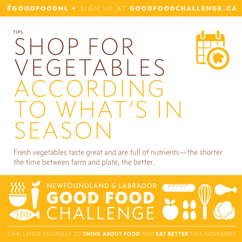 NL Good Food Challenge: Shop for Vegetables According to What's in Season